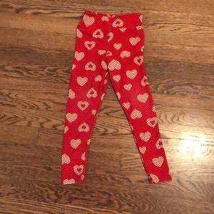 Lularoe heart leggings for girls